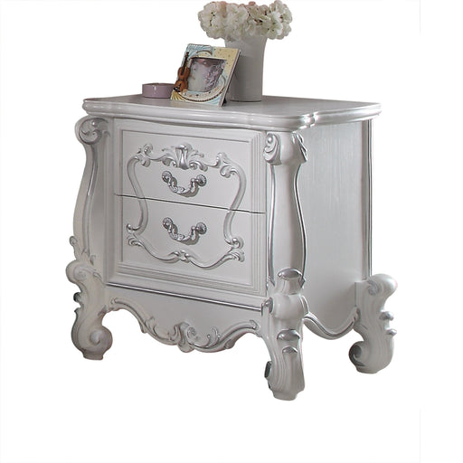 Versailles White Nightstand - Canales Furniture
