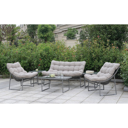 Amya Gray 6 Pc. Patio Set - Canales Furniture