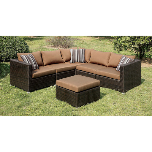 ABION Brown/Espresso Patio Sectional - Canales Furniture