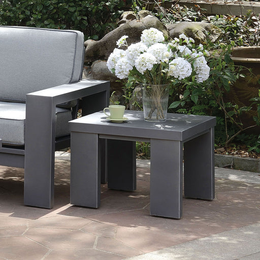 Codington Gray End Table - Canales Furniture