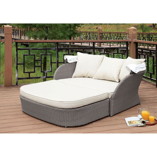 AIDA Gray/White Patio Canopy Daybed - Canales Furniture