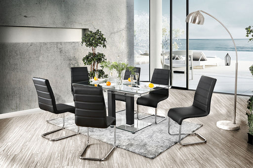 Richfield Black/Chrome Dining Table - Canales Furniture
