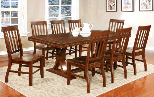 Foster I Dark Oak 7 Pc Dining Table Set Canales Furniture