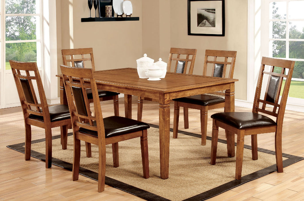 Freeman I Light Oak Espresso Dining Table Set Canales Furniture