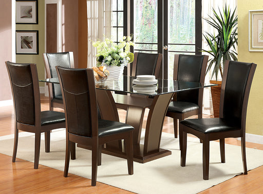 Manhattan I Brown Cherry Dining Table - Canales Furniture
