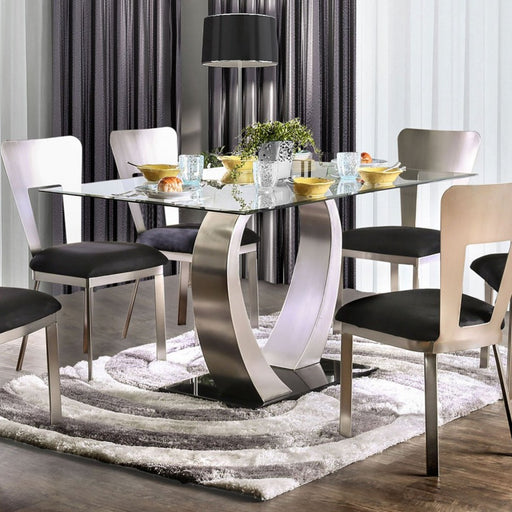 NOVA Silver/Black Dining Table - Canales Furniture