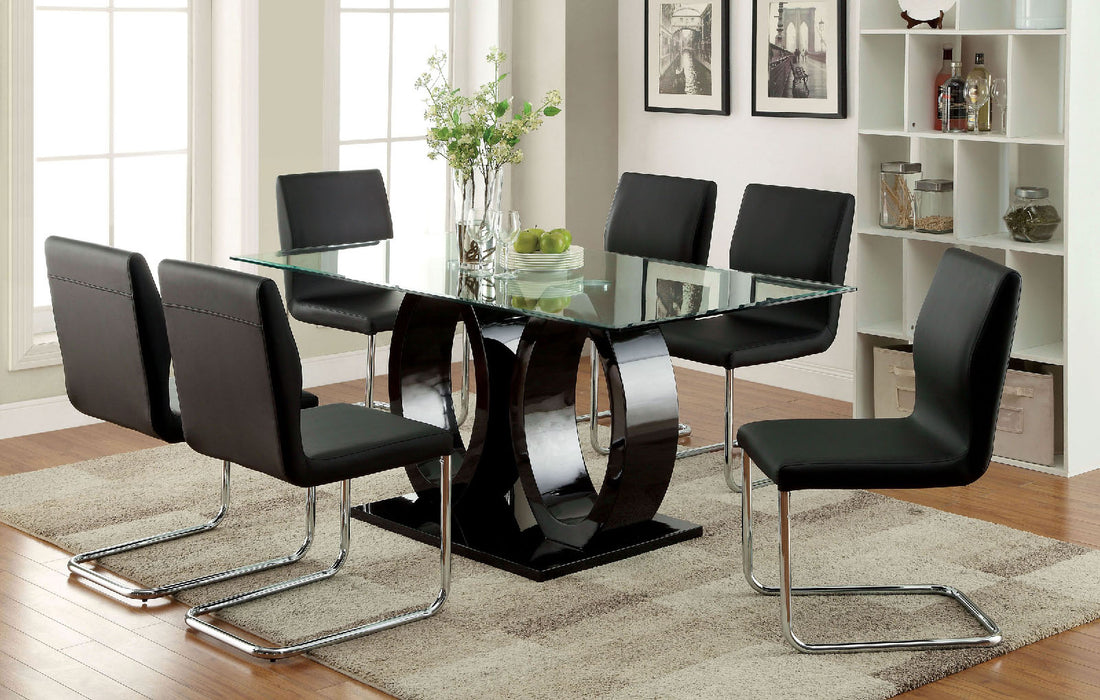 LODIA I Black Dining Table - Canales Furniture
