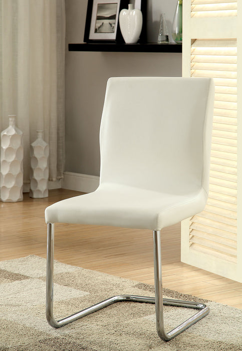 LODIA I White Side Chair - Canales Furniture