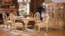 Tuscany III Antique White 7 Pc. Dining Table Set (2AC+4SC) - Canales Furniture