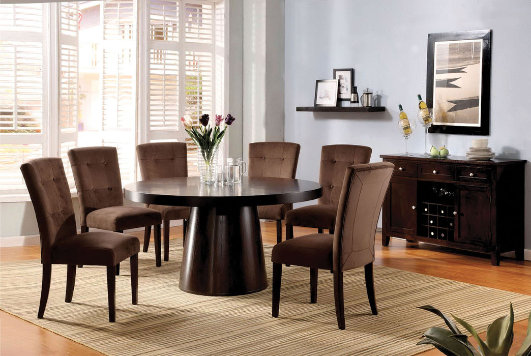 Havana Espresso 7 Pc. Dining Table Set - Canales Furniture