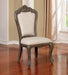 Charmaine Antique Brush Gray Side Chair (2/CTN) - Canales Furniture