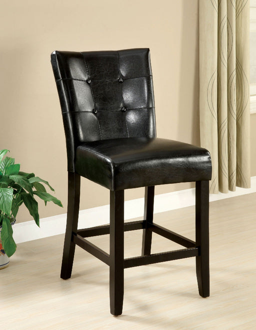 Marion II Black/Espresso Counter Ht. Chair (2/CTN) - Canales Furniture