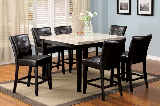 Marion II Espresso 7 Pc. Counter Ht. Table Set - Canales Furniture