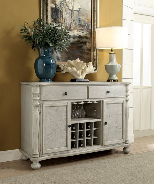 Kathryn Antique White Server, White - Canales Furniture