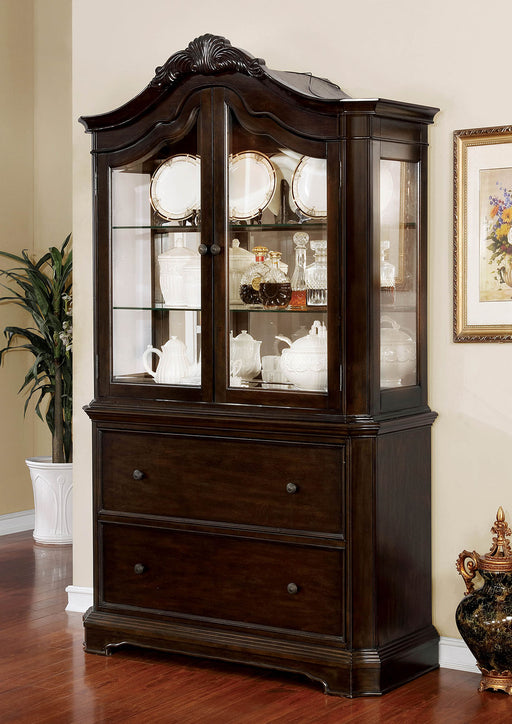 Rosalina Walnut Hutch & Buffet - Canales Furniture