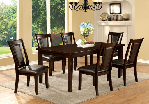 "EMMONS I Dark Cherry/Espresso Dining Table w/ 18"" Leaf - Canales Furniture"