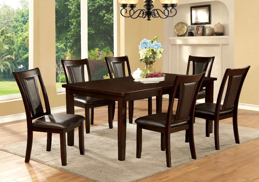 EMMONS I Dark Cherry 6 Pc. Dining Table Set w/ Bench - Canales Furniture