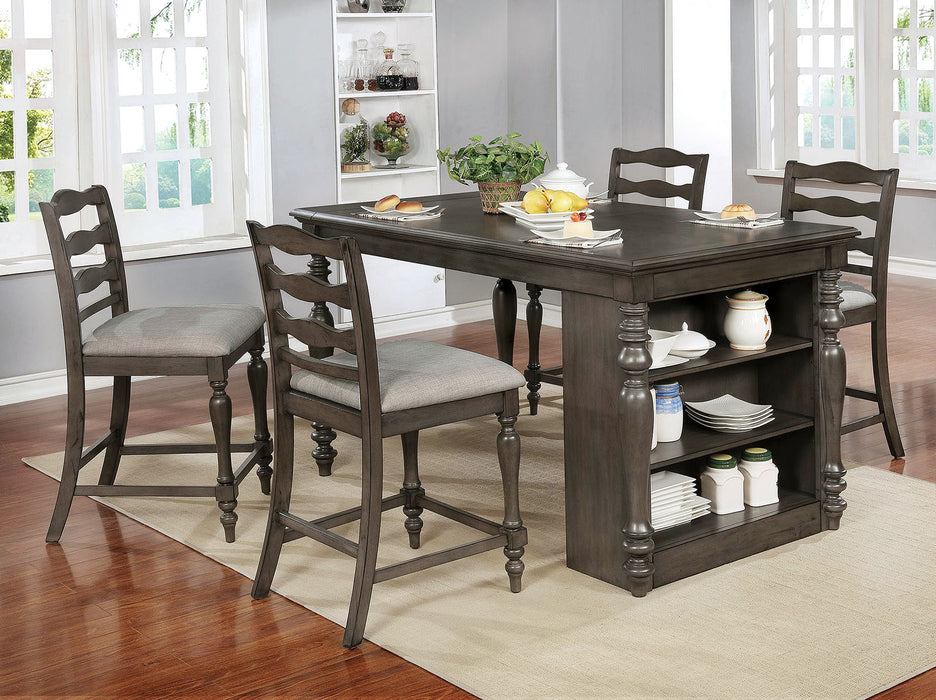 Theresa Gray 5 Pc. Dining Table Set - Canales Furniture