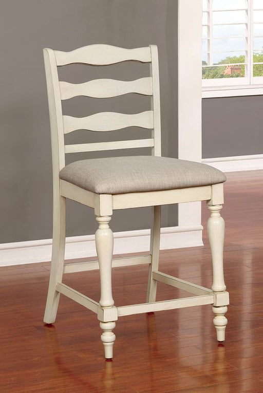 Theresa Antique White/Gray Counter Ht. Chair (2/CTN) - Canales Furniture