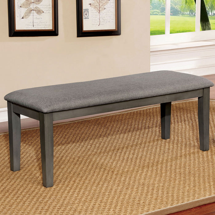 Hillsview Gray Bench - Canales Furniture