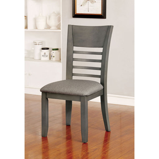 Hillsview Gray Side Chair (2/CTN) - Canales Furniture