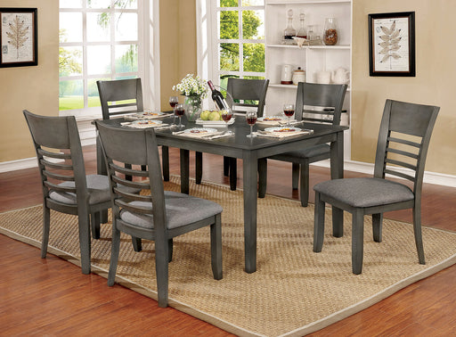 Hillsview Gray 7 Pc. Dining Table Set - Canales Furniture