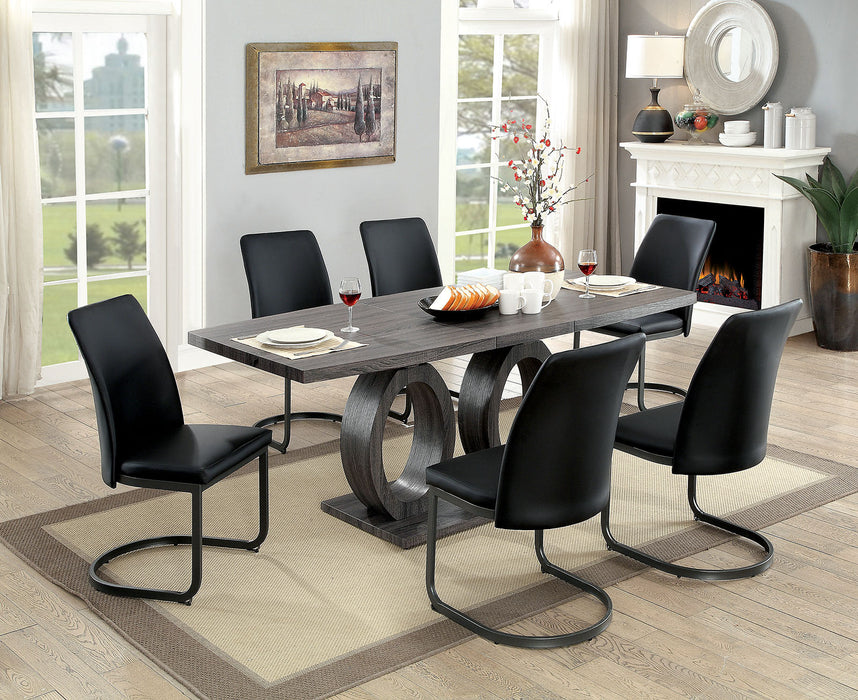 Saskia Gray 5 Pc. Dining Table Set - Canales Furniture