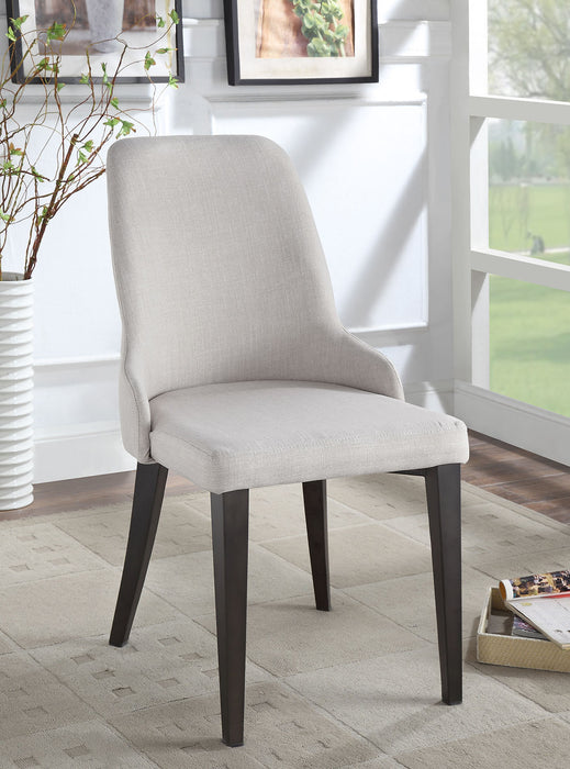 Marge Beige Side Chair (2/CTN) - Canales Furniture