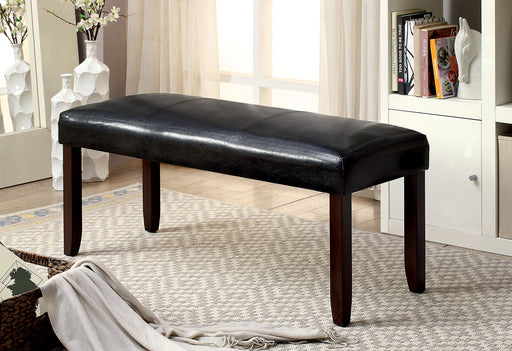 EMMONS I Dark Cherry/Espresso Bench - Canales Furniture