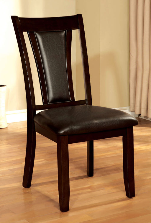 BRENT Dark Cherry/Espresso Side Chair (2/CTN) - Canales Furniture