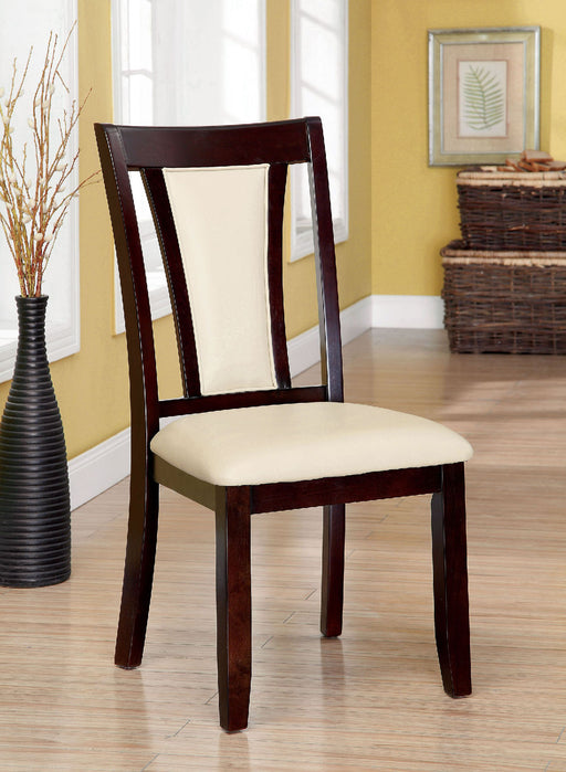 BRENT Dark Cherry/Ivory Side Chair (2/CTN) - Canales Furniture