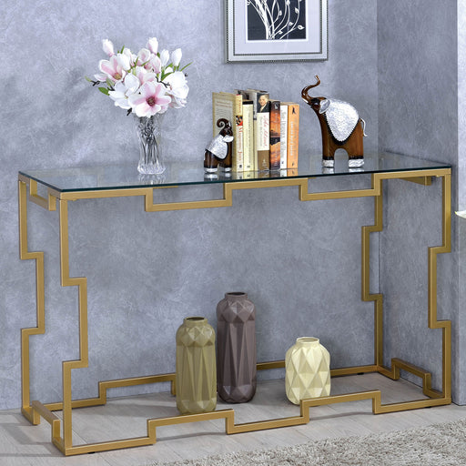 Josephine Gold Sofa Table - Canales Furniture