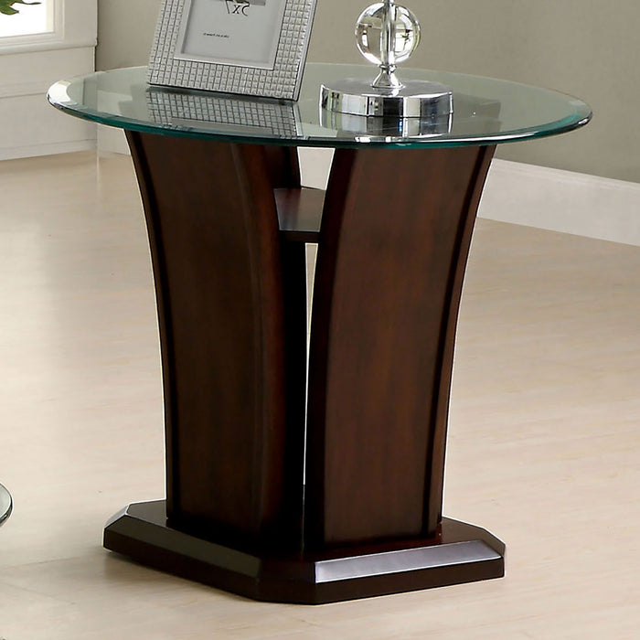 Manhattan iv Brown Cherry End Table, Brown Cherry - Canales Furniture