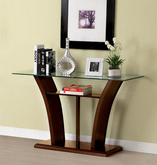 Manhattan iv Brown Cherry Sofa Table, Brown Cherry - Canales Furniture