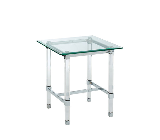 Tuva Chrome End Table - Canales Furniture