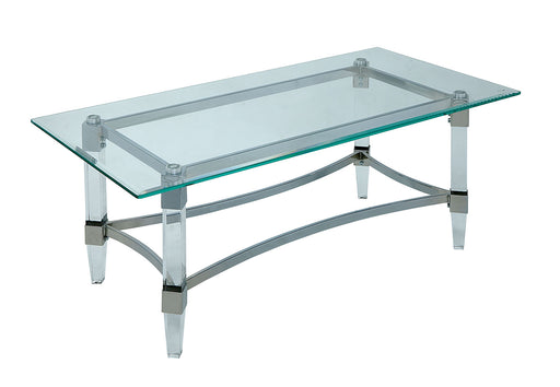 Beaumaris Clear/Chrome Coffee Table - Canales Furniture