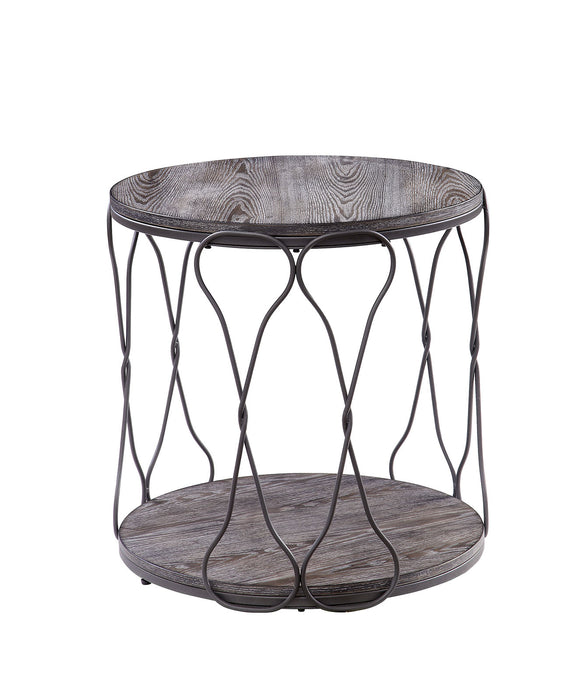 Hawdon Gray End Table - Canales Furniture