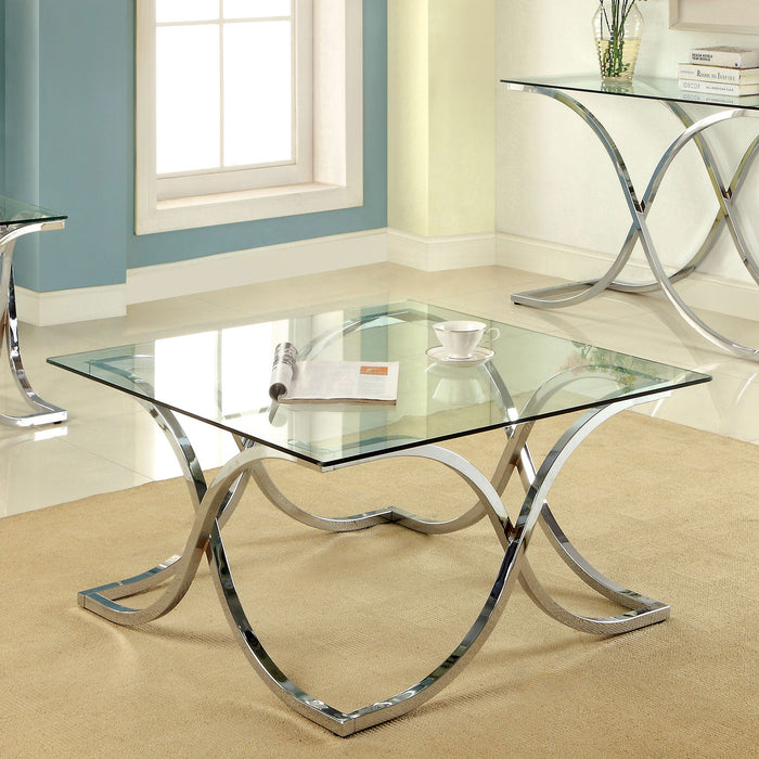 LUXA Chrome Coffee Table - Canales Furniture