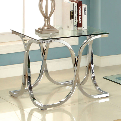 LUXA Chrome End Table - Canales Furniture
