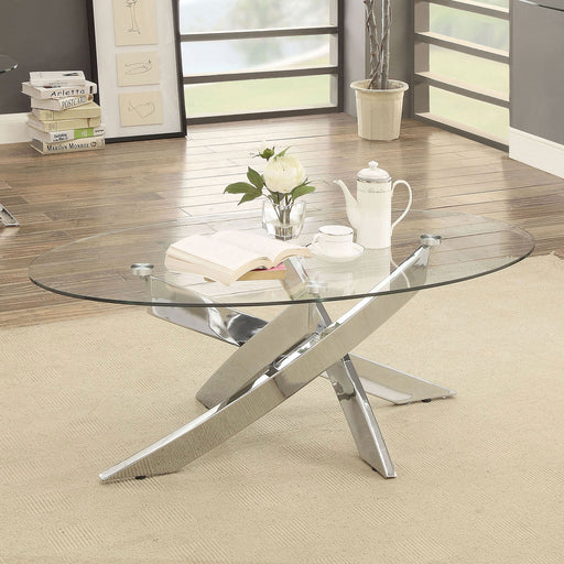 LAILA Chrome Coffee Table - Canales Furniture