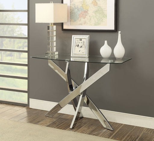 LAILA Chrome Sofa Table - Canales Furniture