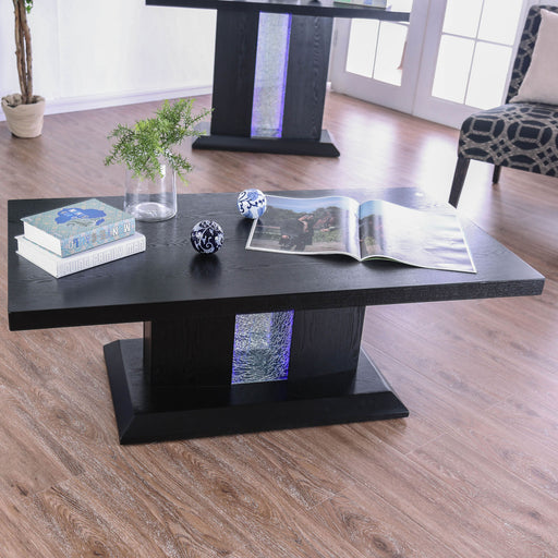 Tobias Black Coffee Table - Canales Furniture