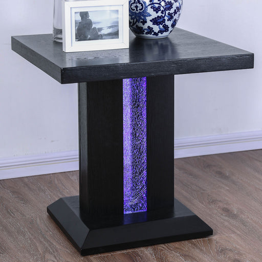 Tobias Black End Table - Canales Furniture