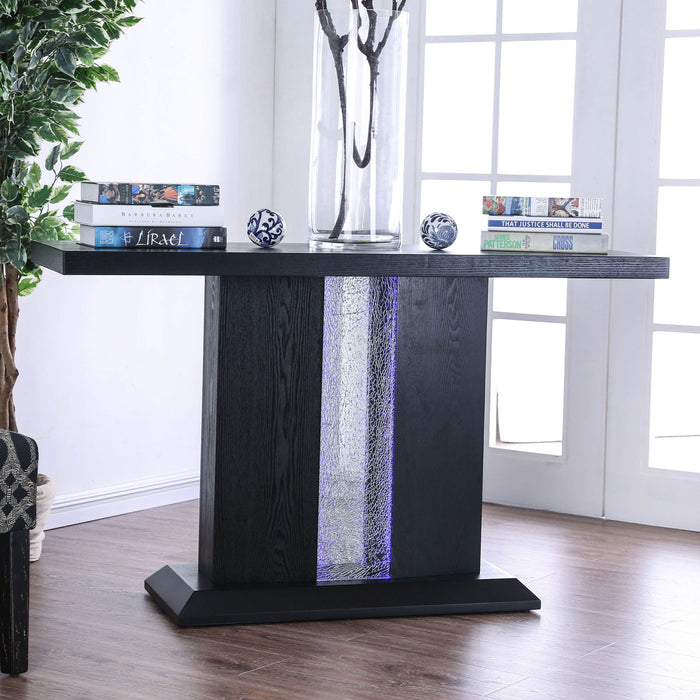 Tobias Black Sofa Table - Canales Furniture