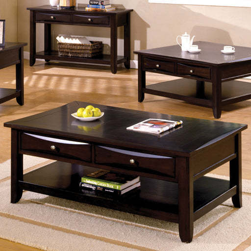 Baldwin Espresso Coffee Table - Canales Furniture