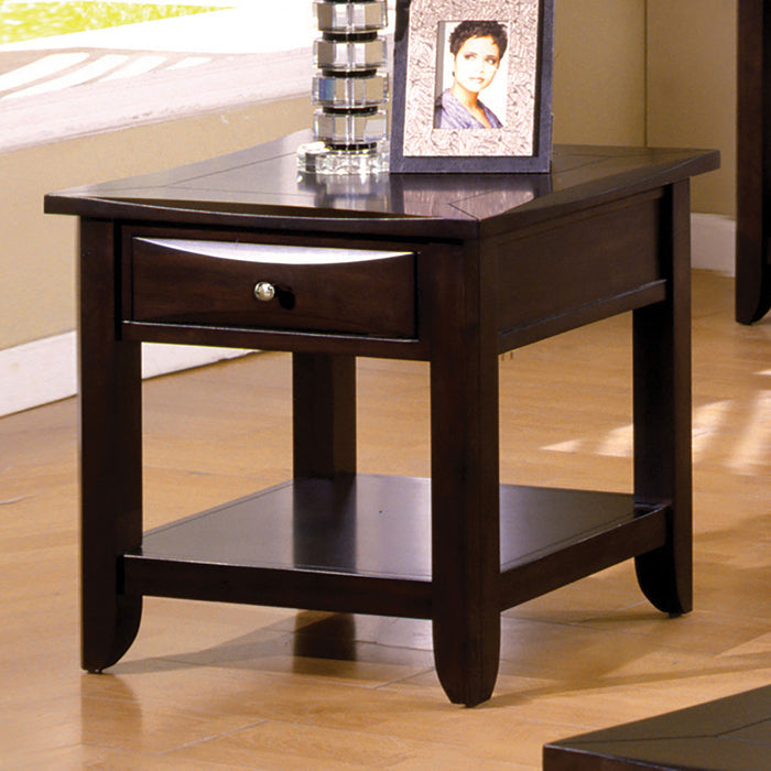 Baldwin Espresso End Table - Canales Furniture