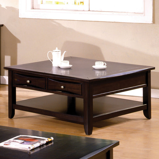 Baldwin Espresso Square Cocktail Table - Canales Furniture