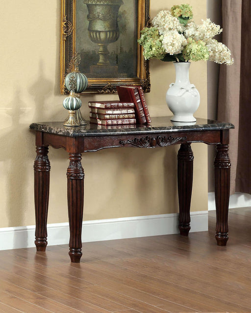 Brampton Espresso/Black Faux Sofa Table - Canales Furniture