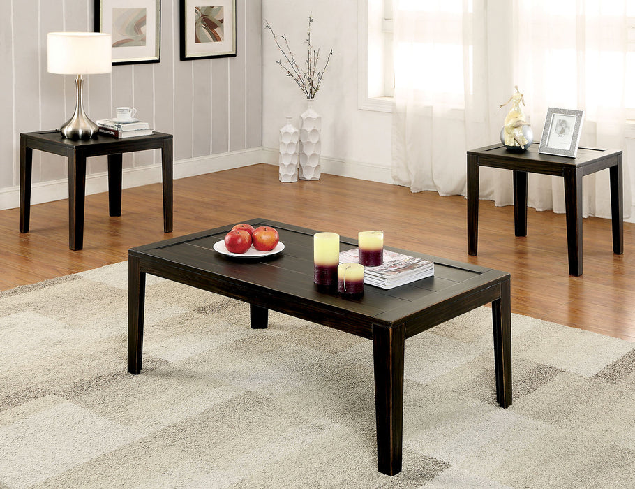 TAMRA Distressed Espresso 3 Pc. Table Set - Canales Furniture