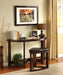 Crystal Cove II Dark Walnut Half-Oval Sofa Table w/ Stool - Canales Furniture
